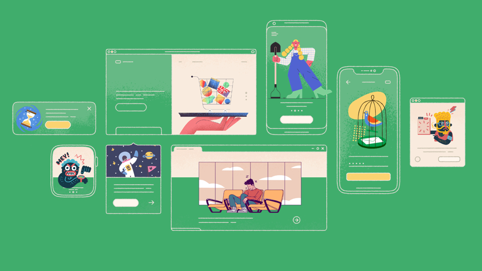 Free Amazing Illustrations Library for Your Project
