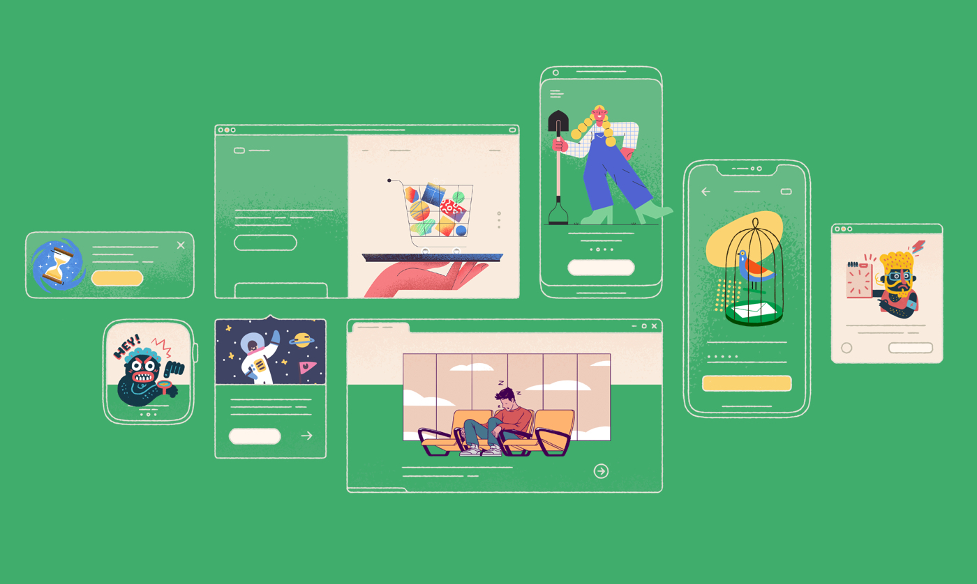 Free Amazing Illustrations Library for Your Project - Lapa Ninja
